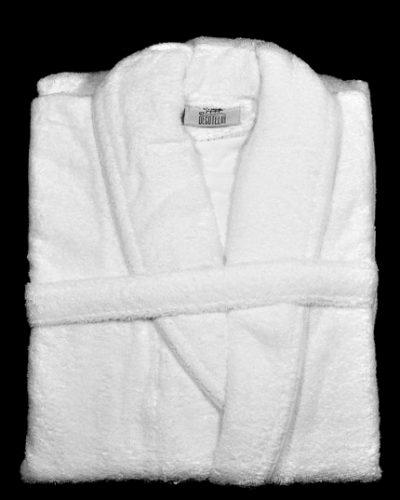 Μπουρνούζι Λευκό Βαμβακερό