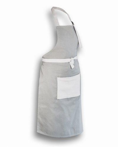 Ποδιά Μαγείρου Γκρι με άσπρη τσέπη