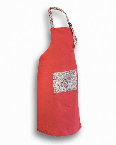 Ποδιά Μαγείρου Κόκκινη με τσέπη