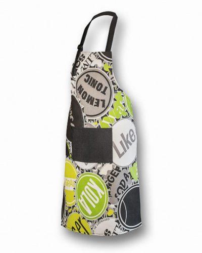 Ποδιά Μαγείρου Πράσινη με μαύρη τσέπη