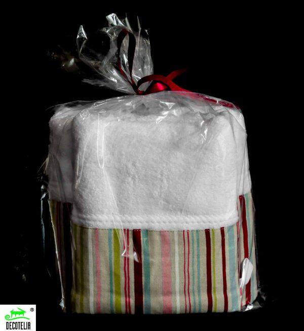 Σετ πετσέτες μπάνιου λευκές με φάσα