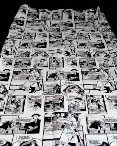 Κουρτίνα Comics Λευκή με Τρουκς