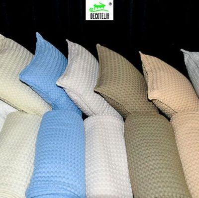 Κουβέρτα πικέ βάφλα σε ποικιλία χρωμάτων