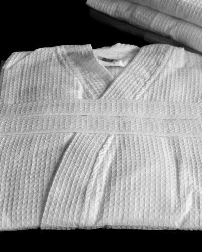 Μπουρνούζι Πικέ Λευκό