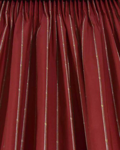 Κουρτίνα έτοιμη ραμμένη κόκκινη