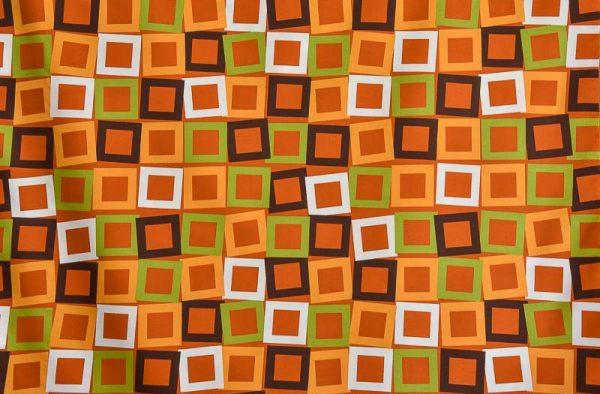 Κουρτίνα Βαμβακοσατέν Πορτοκαλί