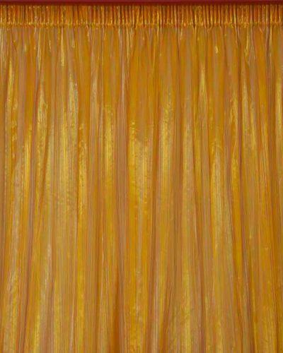 Κουρτίνα λεπτή οργαντίνα πορτοκαλί