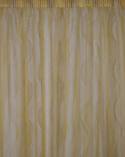 Κουρτίνα λεπτή οργαντίνα χρυσοκίτρινη
