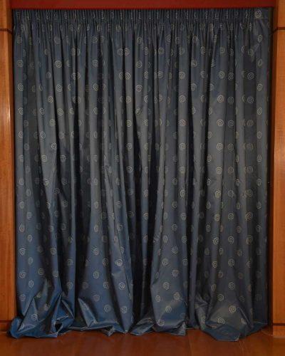 Κουρτίνα Ταφτάς μπλε