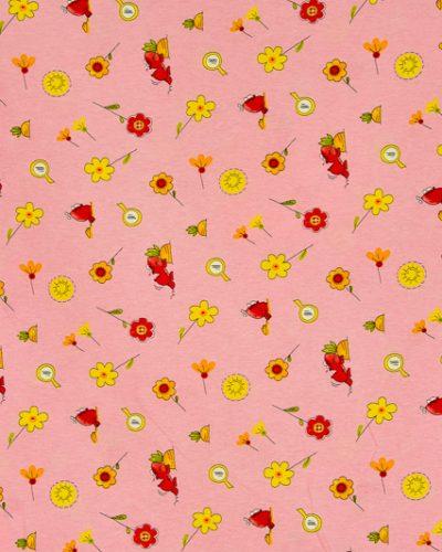 Κουρτίνα παιδική ροζ